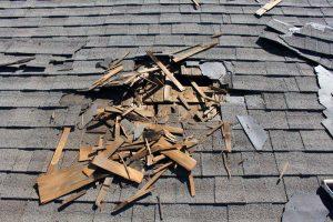 Ein kaputtes Dach